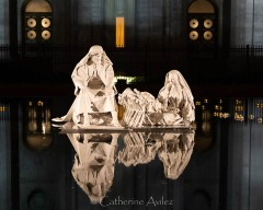 Nativity in Reflecting Pool